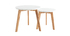 Runde Beistelltische 2er-Set Eiche und Weiß GILDA