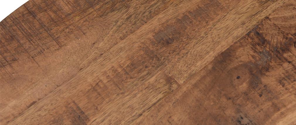 Runde Verschachtelungstische aus massivem Akazienholz und Metall AQUILA