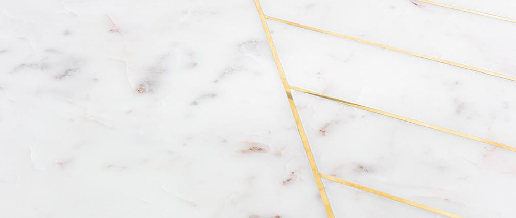 Runder Couchtisch aus weißem Marmor SILLON