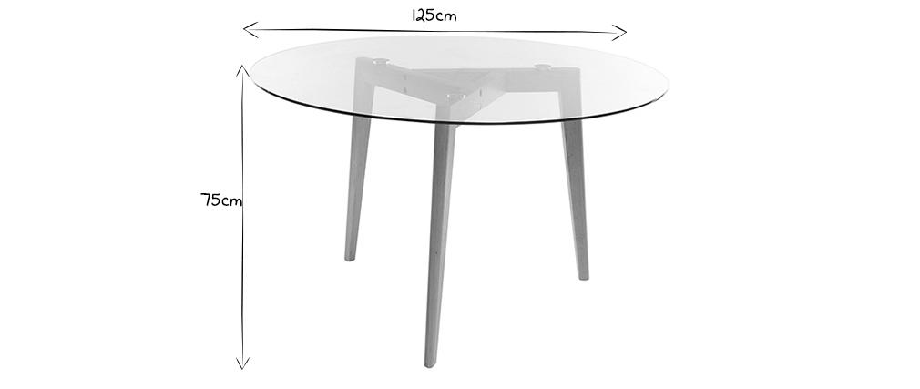 Runder Design-Esstisch DAVOS Glasplatte