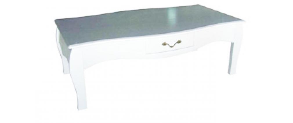 salontisch couchtisch louisa 1 schublade wei miliboo. Black Bedroom Furniture Sets. Home Design Ideas