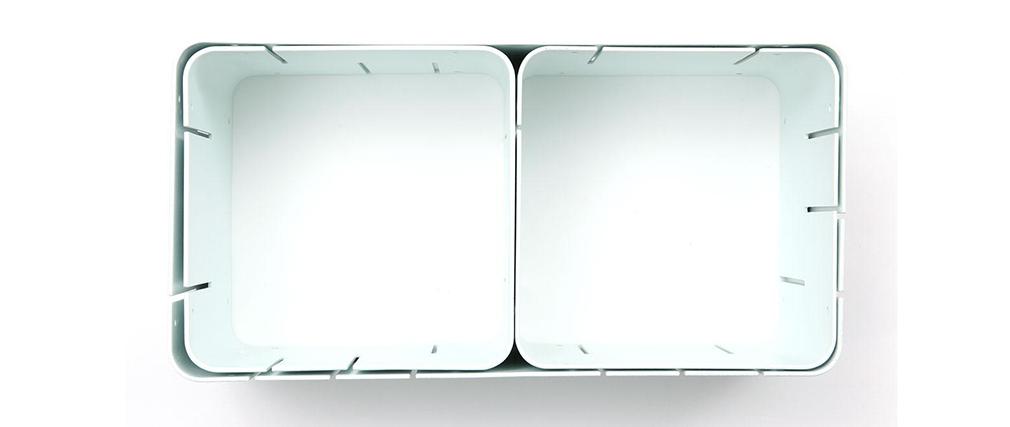 Satz von 3 modulierbaren Design-Regalen KLIK S Weiß