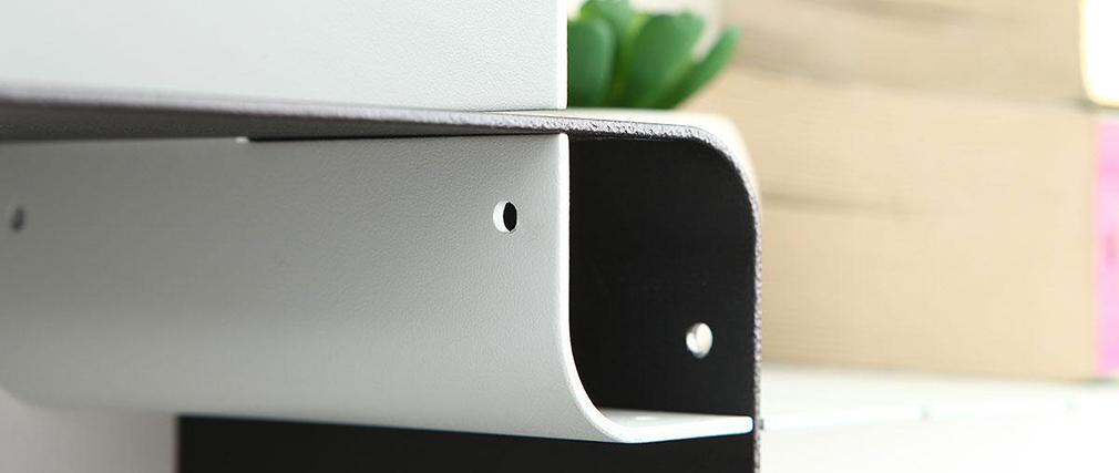 Satz von 7 modulierbaren Design-Regalen KLIK XL Weiß und Schwarz