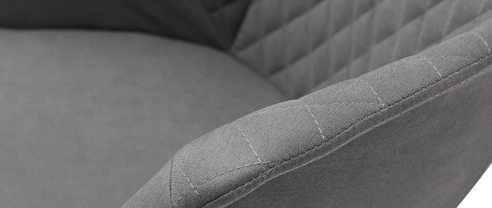Schaukelstuhl aus hellgrauem und weißem Metall SWING
