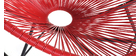 Schaukelstuhl BELLAVISTA aus rotem Kunststoffgeflecht