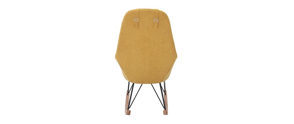 Schaukelstuhl Kind Stoff Gelb Beine Metall und Holz JHENE