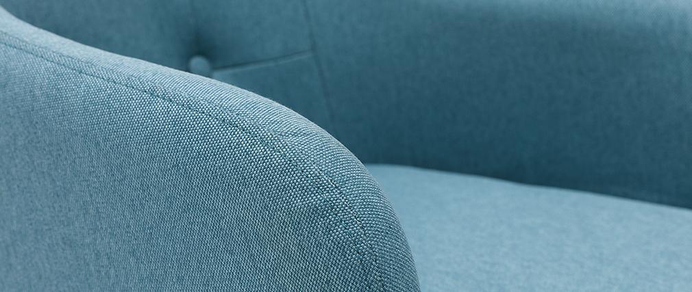 Schaukelstuhl skandinavisch Blaugrün BALTIK ? Miliboo |1| Stéphane Plaza
