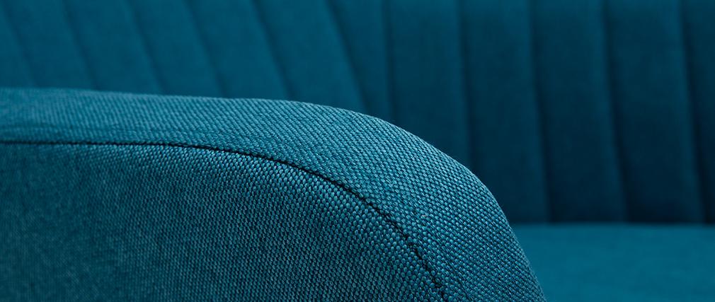 Schaukelstuhl skandinavisch Stoff Blaugrün ALEYNA