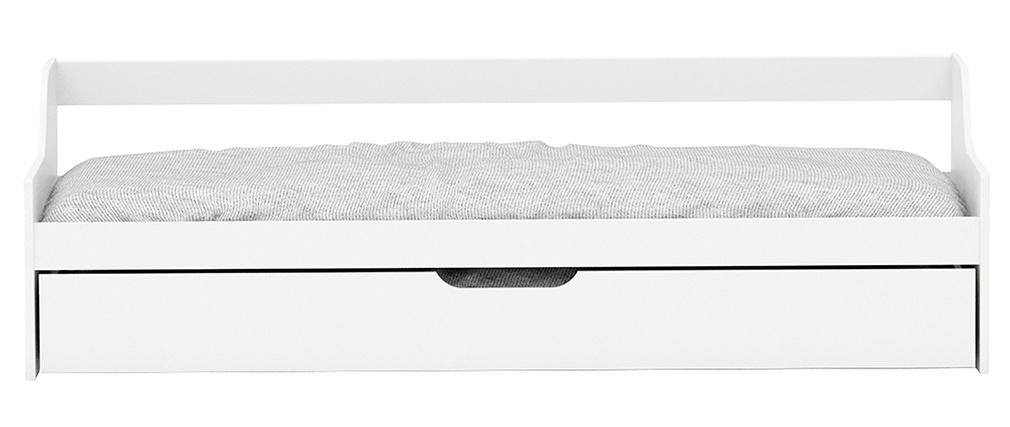 Schlafsofa für Kinder mit Schubladen 90 x 200 Kiefer Weiß THEO
