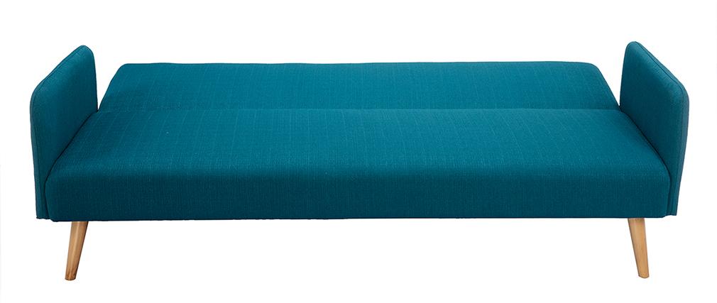 Schlafsofa skandinavisch 3 Plätze blaugrün LULA