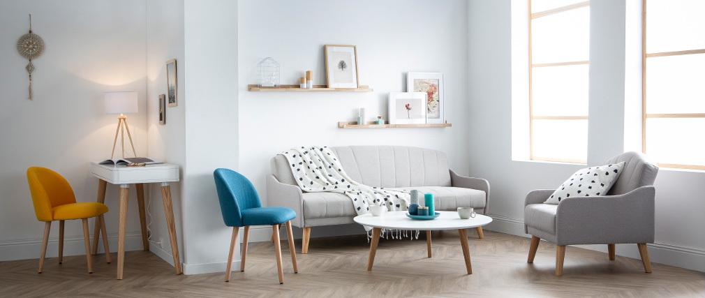 Schlafsofa skandinavisches Design 3 Plätze Grau ARYA