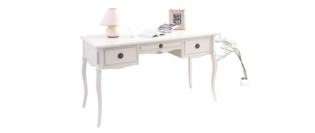 Schreibtisch BIANCA Barockstil Weiß
