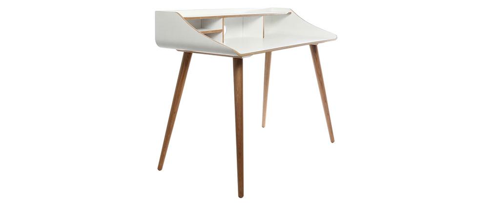 Schreibtisch Holz-Finish Weiß NORDECO