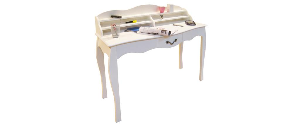 Schreibtisch im Barockstil Louisa, Weiß, 1 Schublade