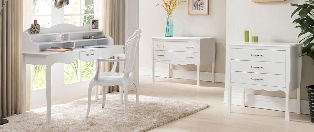 Schreibtisch lackiert Weiß MARGOT
