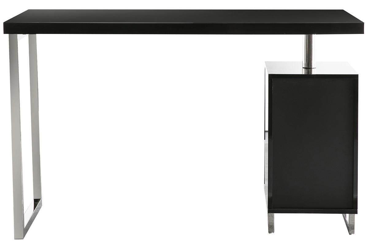 Schreibtisch lexi design schwarz lackiert 2 schubladen for Schreibtisch amazon