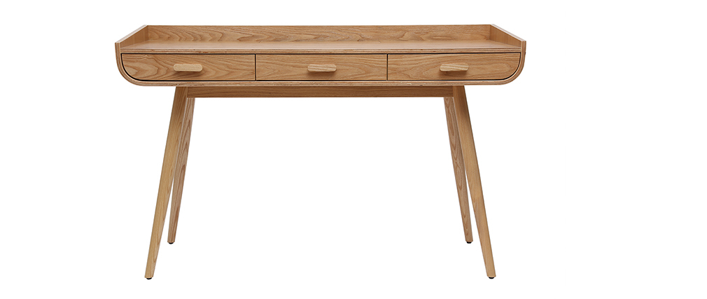 Schreibtisch skandinavisch helles Holz HALLEN ? Miliboo  1  Stéphane Plaza
