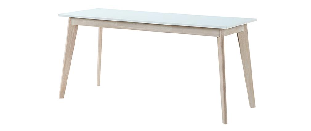 Schreibtisch skandinavisch mit Schubladen Holz Weiß  L160 LEENA