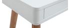 Schreibtisch skandinavisches Design Weiß und Holz L115 cm TOTEM