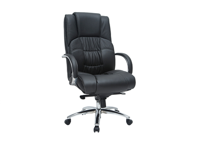 Schreibtischsessel / Chefsessel aus schwarzem Leder Donatello - Rindsleder