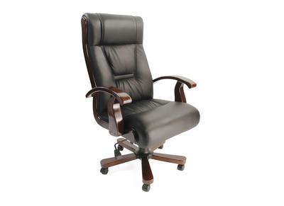 Schreibtischsessel / Chefsessel aus schwarzem Leder Mona Lisa - Rindsleder