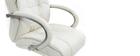 Schreibtischsessel / Chefsessel aus weißem Leder Donatello - Rindsleder