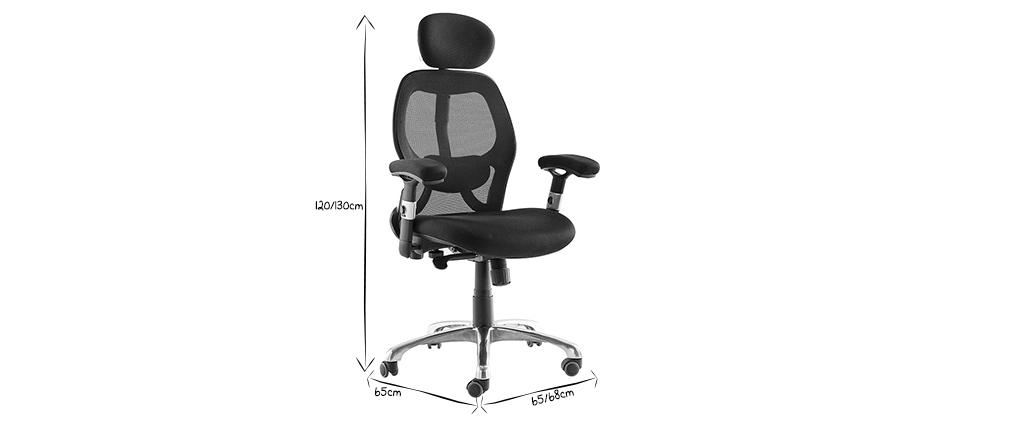 Schreibtischsessel ergonomisch Grau ULTIMATE V2 plus