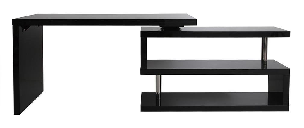schwarz lackierter designer schreibtisch max miliboo. Black Bedroom Furniture Sets. Home Design Ideas