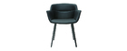 Schwarze Design-Stühle (2er-Satz) NERO