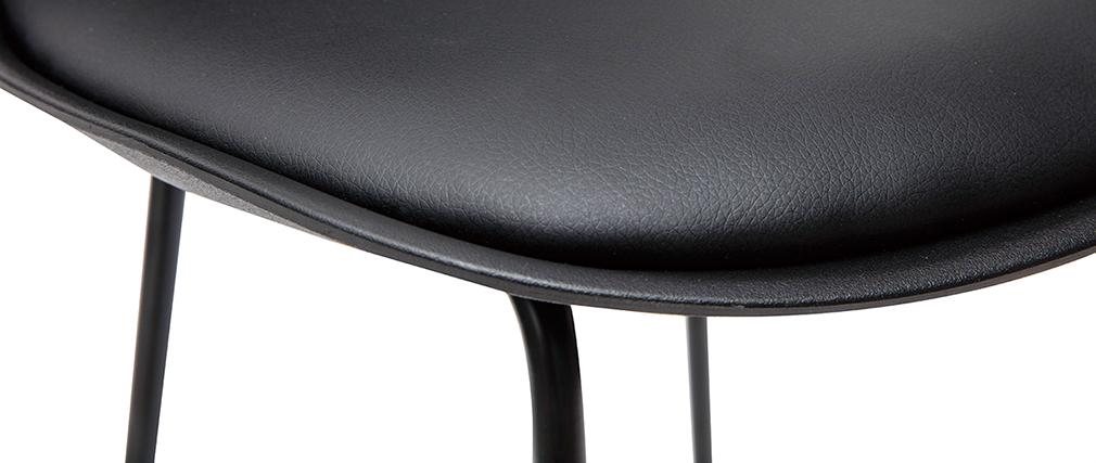 Schwarze Designer-Barhocker mit Metallbeinen 65 cm (2er-Set) FRANZ
