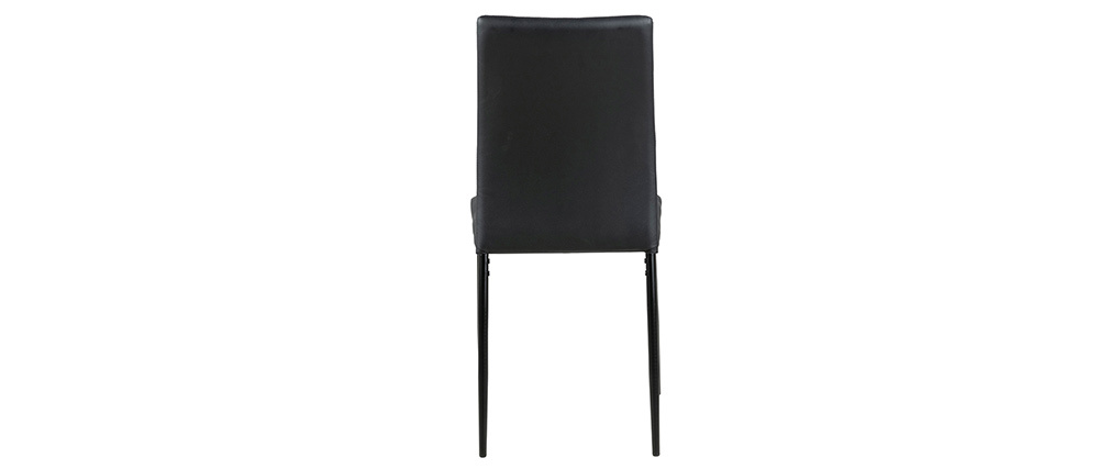 Schwarze Designer-Stühle (4er-Satz) LUCKY