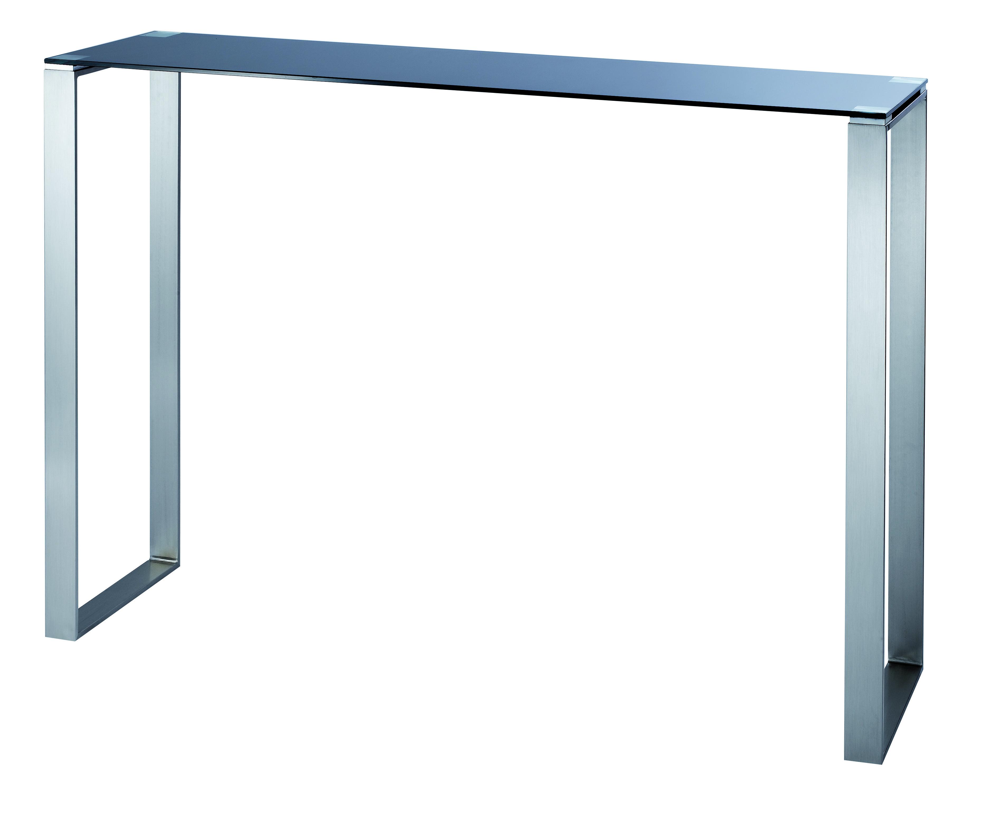 Schwarze moderne konsole inola aus glas und edelstahl for Moderne couchtische glas edelstahl