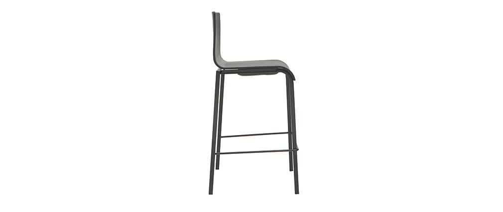Schwarze stapelbare Designer-Barhocker H65 cm (2er-Satz) KUPA