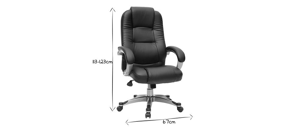 Schwarzer Bürosessel /Stuhl Toronto
