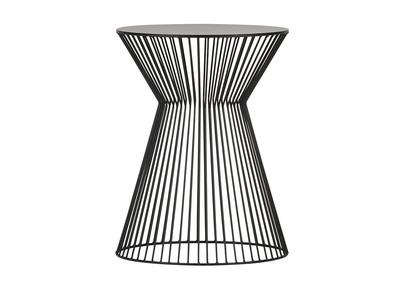 Schwarzer Design-Drahtgestell-Beistelltisch TIMY