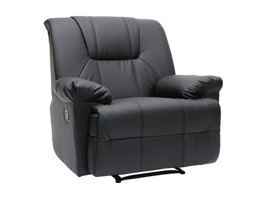 Schwarzer Relaxsessel Ross mit manueller Bedienung