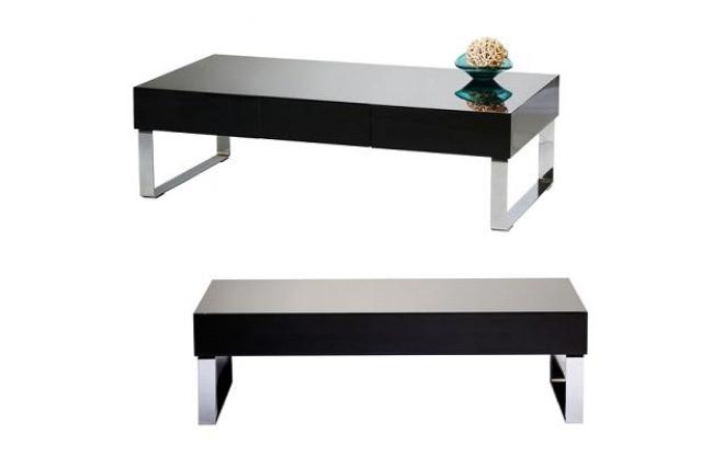 schwarzer salontisch couchtisch neo schwarz lackiert. Black Bedroom Furniture Sets. Home Design Ideas