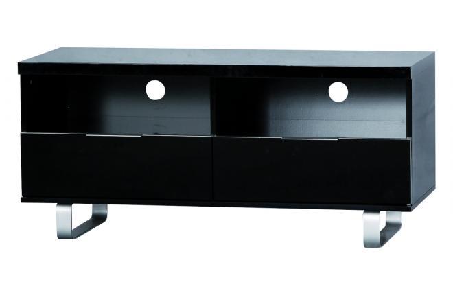 schwarzes design fernsehm bel lea 2 f cher und 2. Black Bedroom Furniture Sets. Home Design Ideas