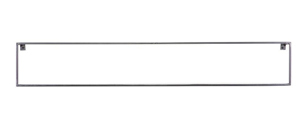 Schwarzes Design-Metallwandregal 100 cm GLENN