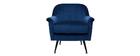 Sessel aus blauem Samt ADAM