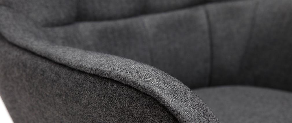 Sessel mit grauer Fußstütze MOOD