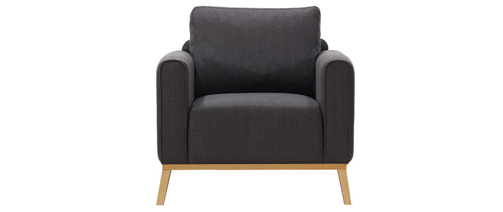 sessel skandinavisch anthrazitgrau halden miliboo. Black Bedroom Furniture Sets. Home Design Ideas