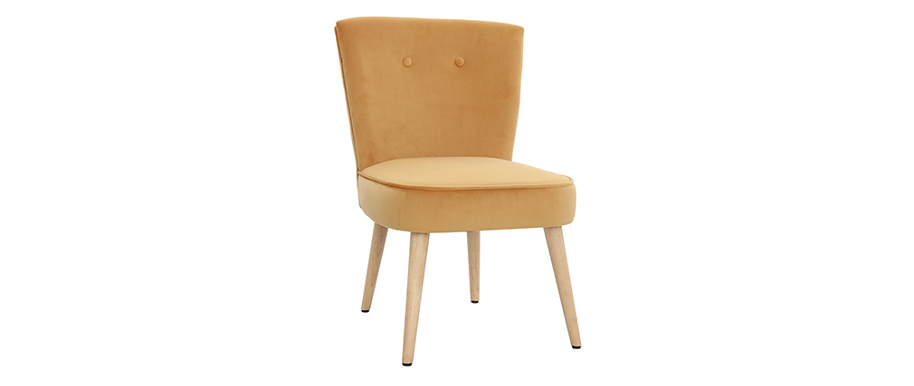 Sessel skandinavisch aus Samt Gelb SAYU