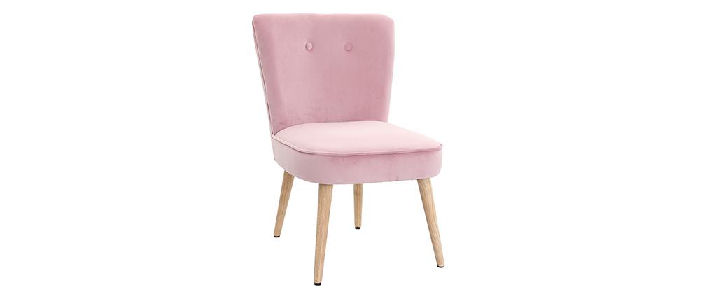 Sessel skandinavisch aus Samt Rosa SAYU
