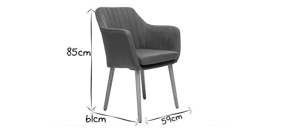Sessel skandinavisch Blaugrün und Füße aus Eichenholz ALEYNA