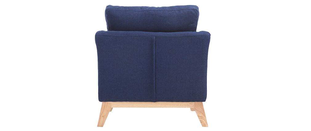 sessel skandinavisch dunkelblau und f e aus hellem holz. Black Bedroom Furniture Sets. Home Design Ideas