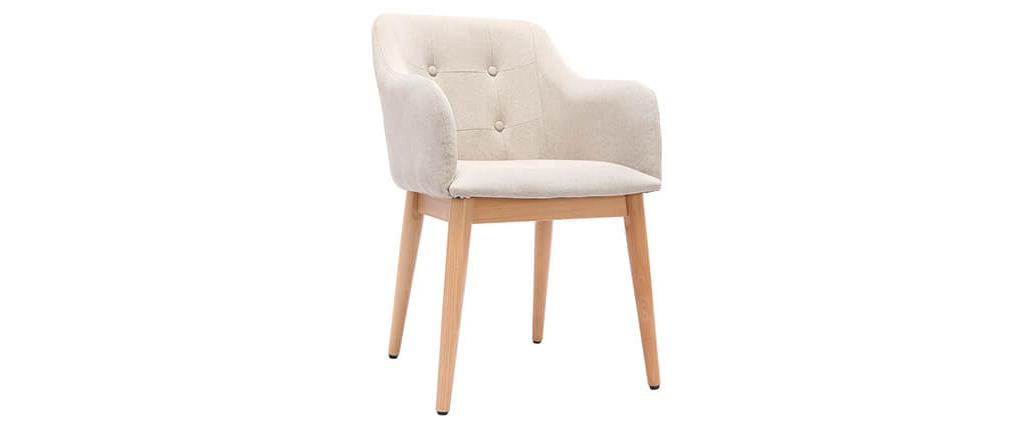 Sessel skandinavisches Design Holz Naturfarben BALTIK
