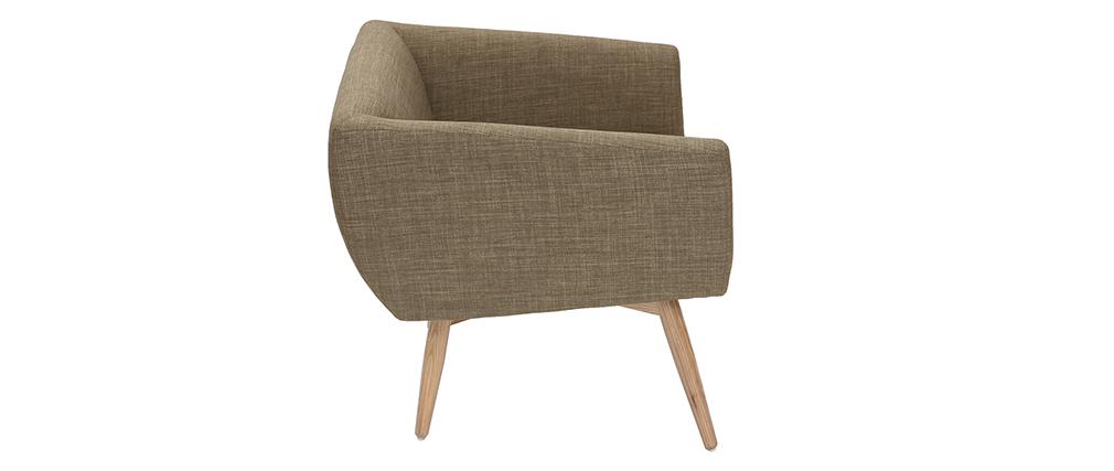 Sessel skandinavisches Design Stoff Grün ARTIK