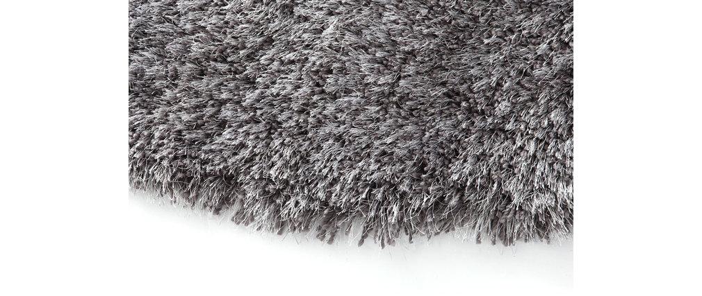 Shaggy-Teppich rund Grau 150 cm UGO