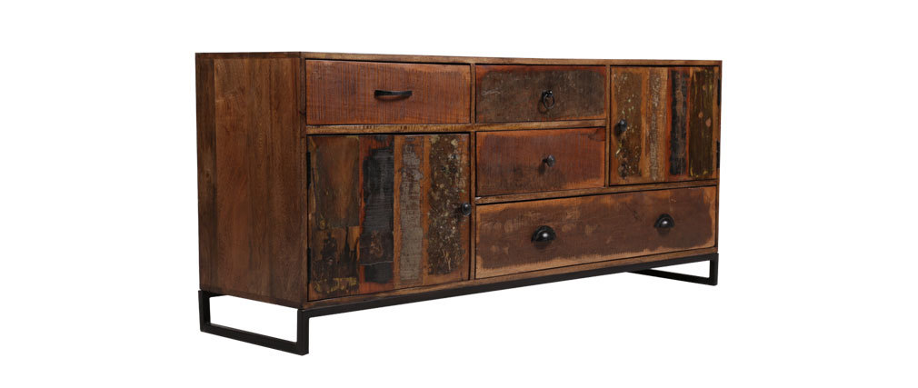 sideboard 150 cm recyceltes holz madras miliboo. Black Bedroom Furniture Sets. Home Design Ideas